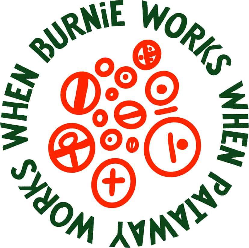 Burnie Pataway Works Circle And Illo CMYK Green