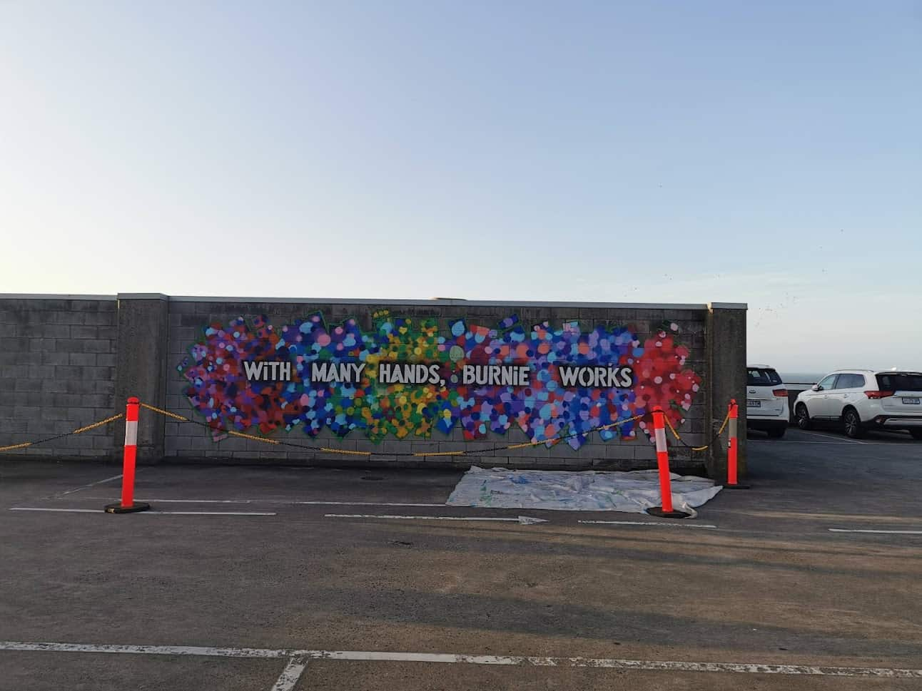 with many hands burnie works mural complete sep 2021